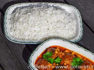 Чалау - рис для мясных котлет куфта по-афгански