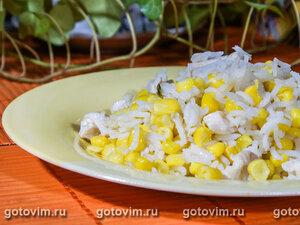 Рис с курицей и кукурузой