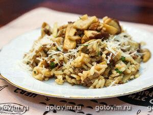 Ризотто с белыми грибами (Risotto ai funghi e prezzemolo)