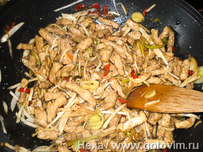 Рисовая лапша с мясом по-китайски, Шаг 05