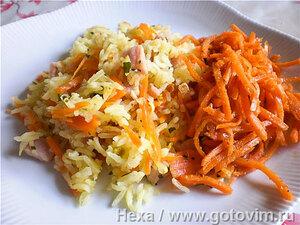 Рис с овощами и каслером (по мотивам турецкого пилава)