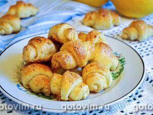Лимонно-творожные рогалики
