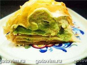 Рулет из лаваша с начинкой из рыбы и авокадо