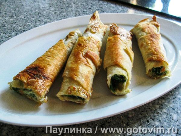 Рецепт рулетиков из лаваша с зеленью