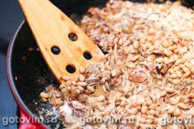 Мясной рулет с грибной начинкой и кедровыми орехами, Шаг 02