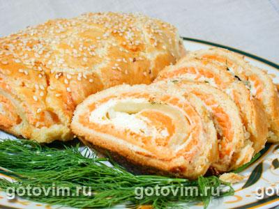 пироги с рыбой в духовке рецепты с фото #15