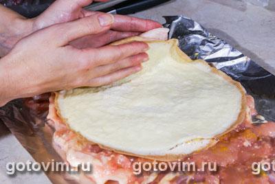 рецепт куриного рулета в духовке с омлетом