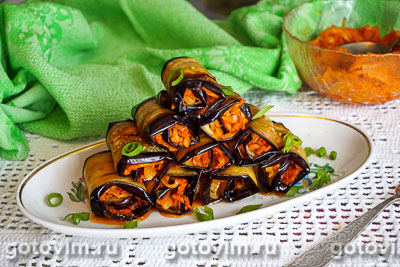 Из баклажанов с морковью и луком