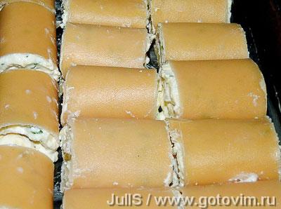 Рулеты из лазаньи с творогом и сыром, Шаг 06