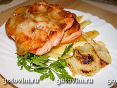 Семга с картофельной корочкой. Фото-рецепт