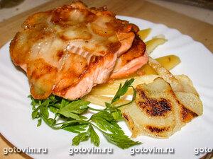 Семга с картофельной корочкой