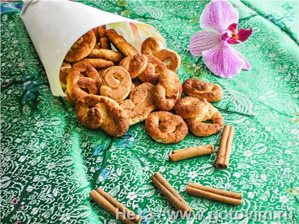 Сахарные крендельки с корицей. Фотография рецепта