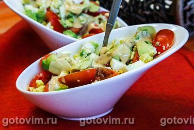 Салат из авокадо с яйцом. Фотография рецепта