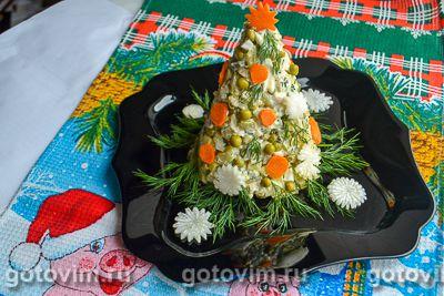 Новогодний салат «Ёлочка». Фотография рецепта