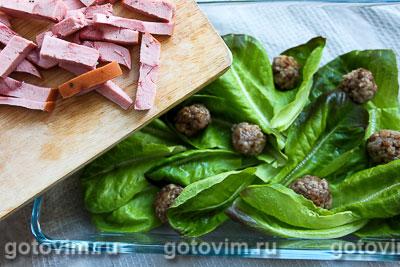 Салат для пикника с фрикадельками и рассольным сыром, Шаг 05