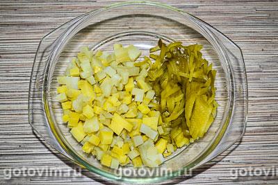 Мясной салат с говядиной и яичными блинчиками, Шаг 03