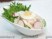 Салат из кальмаров с редиской