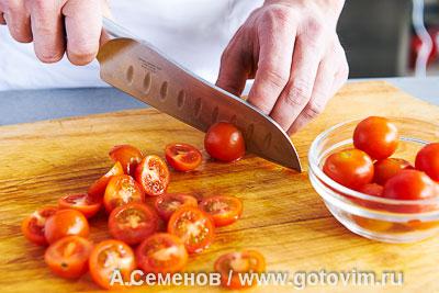 Салат из молодого картофеля и жареных кальмаров, Шаг 02