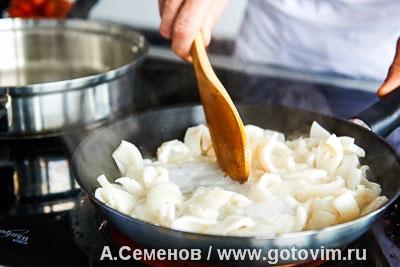 Салат из молодого картофеля и жареных кальмаров, Шаг 05