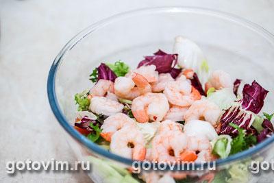 Салат из креветок с йогуртом, Шаг 03