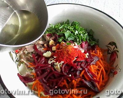 Корейский салат с куриными желудками, Шаг 07