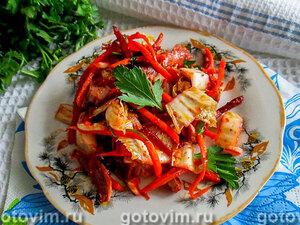 Корейский салат с куриными желудками
