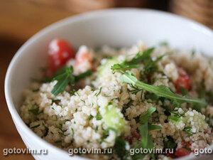 Салат из кус-куса с овощами