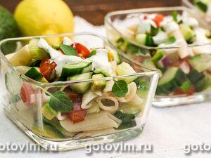 Овощной салат с греческим йогуртом - рецепт пошаговый с фото
