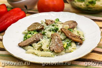 Фотография рецепта Макаронный салат с утиной грудкой и авокадо