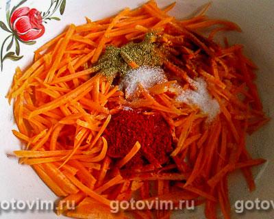 Салат из макарон с корейской морковкой, Шаг 01