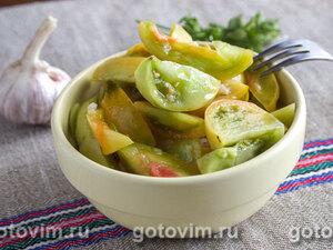 Салат из маринованных зеленых помидоров