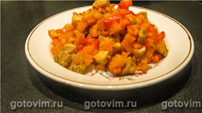 Мясной мексиканский салат. Фотография рецепта
