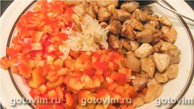 Мясной мексиканский салат, Шаг 03