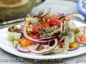 """Слоеный салат """"Золотой гребешок"""" – кулинарный рецепт"""