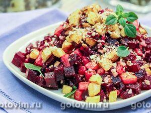 Салат из репы со свеклой и орехами