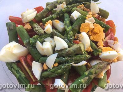 Овощной салат со спаржей и яйцом, Шаг 03