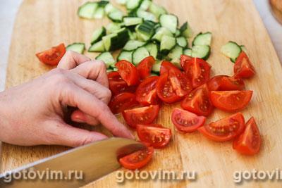 Овощной салат с творогом, Шаг 01