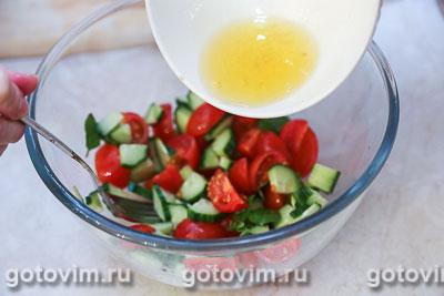 Овощной салат с творогом, Шаг 03