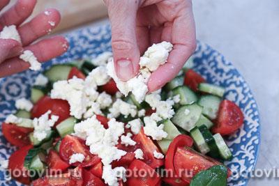 Овощной салат с творогом, Шаг 04