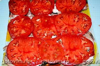 Слоеный салат из языка с овощами «Язык дракона», Шаг 06