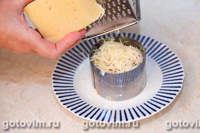 Салат из языка с овощами и сыром, Шаг 03