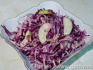 Салат «Зимний» из капусты с яблоками