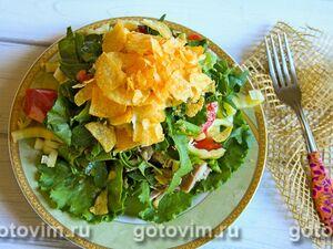 Салат с индейкой и чипсами «Муравейник»