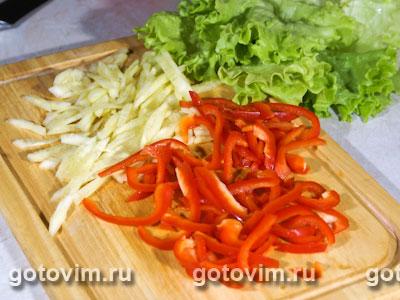 Легкий салат с креветками, Шаг 01