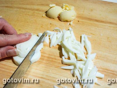 Салат из кальмаров с огурцами, Шаг 04