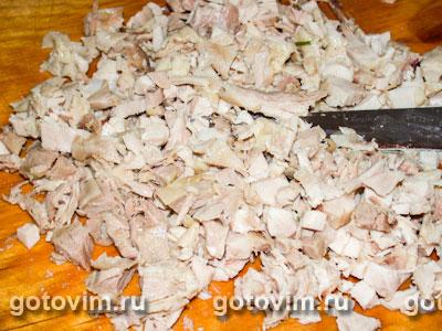 Рисовый салат c курицей, кешью и грибами, Шаг 01