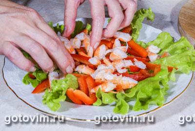 Салат из креветок с яйцом, Шаг 05