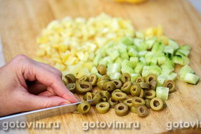 Макаронный салат с крабовыми палочками VIČI, Шаг 02