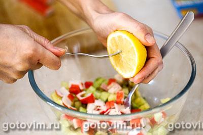Макаронный салат с крабовыми палочками VIČI, Шаг 04