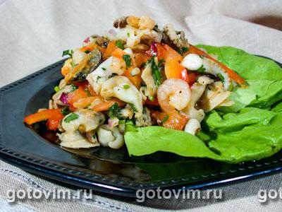 салат с морским коктейлем рецепты